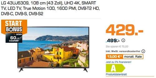 LG 43UJ6309 108 cm (43 Zoll) Smart TV - jetzt 14% billiger
