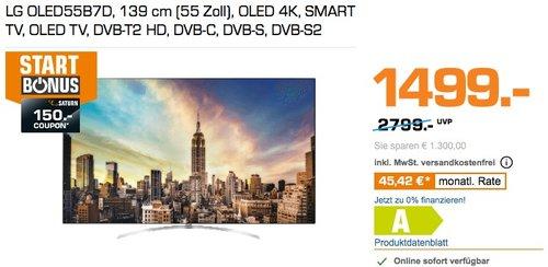 LG OLED55B7D 4K UHD TV Smart TV 55 Zoll - jetzt 17% billiger