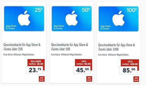 Lidl- bis zu 15 % Rabatt auf iTunes Geschenkkarten - jetzt 15% billiger