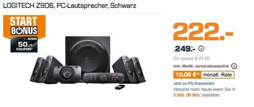 Logitech Z906 3D Stereo Lautsprecher THX - jetzt 8% billiger
