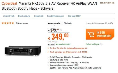 Marantz NR1508 5.2 AV Receiver - jetzt 19% billiger