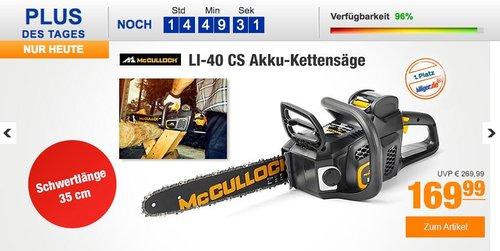 McCulloch LI-40 CS Akku-Kettensäge - jetzt 23% billiger