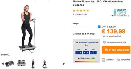 Motive Fitness by U.N.O. Vibrationstrainer - jetzt 28% billiger