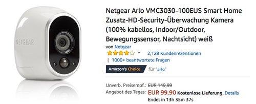 Netgear Arlo VMC3030 Kamera  - jetzt 16% billiger