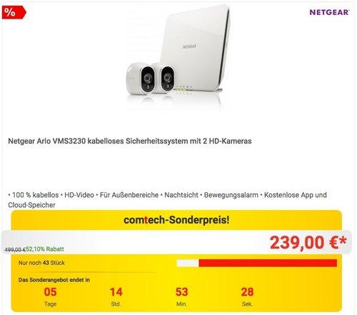 Netgear Arlo VMS3230-100EUS Smart Home 2 HD-Überwachung - jetzt 13% billiger