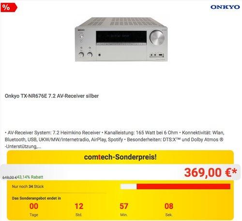Onkyo TX-NR676E 7.2 AV-Receiver - jetzt 10% billiger