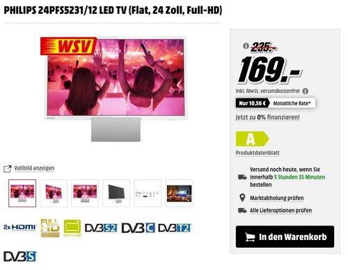 PHILIPS 24PFS5231/12 24 Zoll LED TV - jetzt 19% billiger