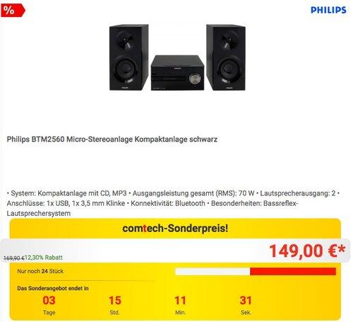 Philips BTM2560 Micro-Stereoanlage Kompaktanlage - jetzt 6% billiger