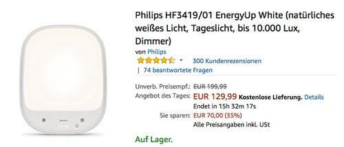 Philips HF3419/01 EnergyUp White Tageslicht - jetzt 16% billiger