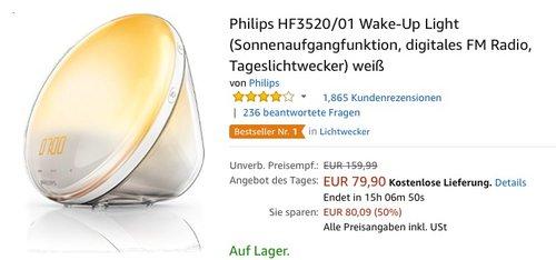 Philips HF3520/01 Wake-Up Light Tageslichtwecker - jetzt 33% billiger