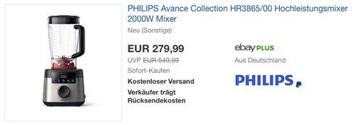 Philips HR3865/00 Hochleistungsmixer 2000W - jetzt 29% billiger
