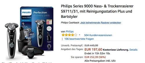Philips Series 9000 Nass- & Trockenrasierer S9711/31 - jetzt 13% billiger