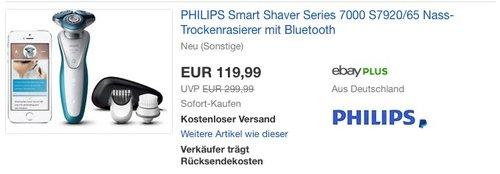 PHILIPS Smart Shaver Series 7000 S7920/65 - jetzt 26% billiger