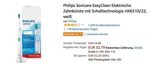 Philips Sonicare CleanCare+ Elektrische Zahnbürste mit Schalltechnologie HX3212/16 - jetzt 23% billiger