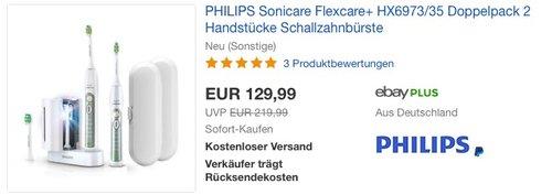 Philips Sonicare Flexcare + HX6973/35 Zahnbürste - jetzt 10% billiger