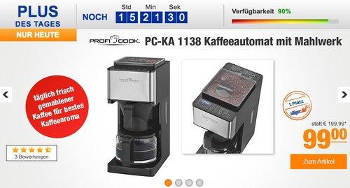 Profi Cook PC-KA 1138 Kaffeeautomat  - jetzt 12% billiger
