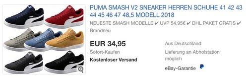 Puma Smash V2 Sneaker Herren Schuhe - jetzt 10% billiger
