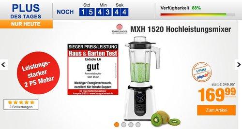 Rommelsbacher MXH 1520 Hochleistungsmixer - jetzt 29% billiger