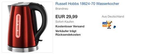 Russell Hobbs 18624-70 Wasserkocher - jetzt 14% billiger