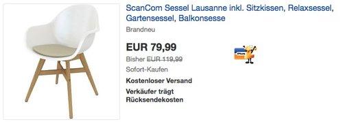 ScanCom Sessel Lausanne inkl. Sitzkissen - jetzt 30% billiger