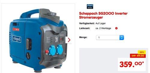 Scheppach SG2000 Inverter Stromerzeuger - jetzt 8% billiger
