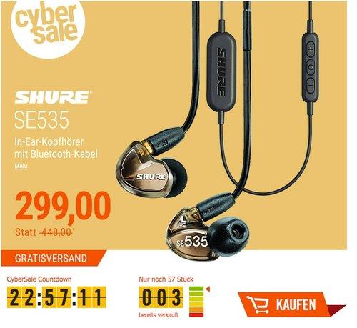 Shure SE535 In Ear Kopfhörer - jetzt 27% billiger