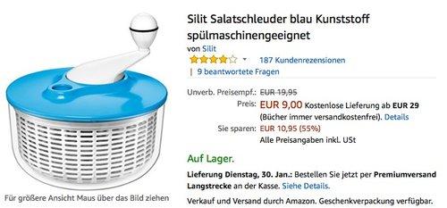 SILIT 21.4128.8435 Salatschleuder - jetzt 53% billiger