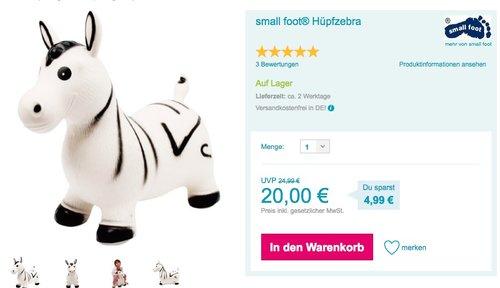 small foot Hüpfzebra - jetzt 15% billiger