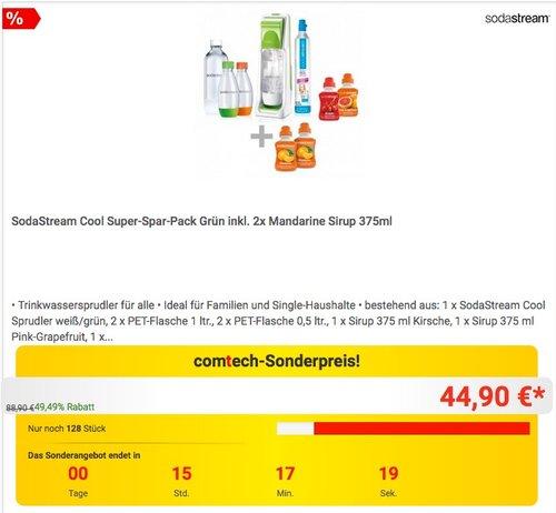 SodaStream Cool Super Spar Pack - jetzt 25% billiger