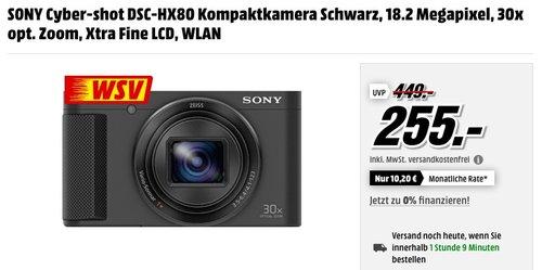 SONY DSC-HX80 Kompaktkamera - jetzt 15% billiger