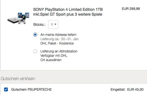Sony Playstation 4 - GT Sport 1TB Special Limited Edition - jetzt 22% billiger