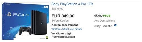 Sony PlayStation 4 Pro 1TB - jetzt 8% billiger