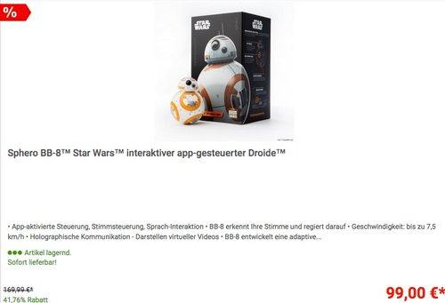 Sphero BB-8™ Star Wars™ interaktiver app-gesteuerter Droide™ - jetzt 10% billiger