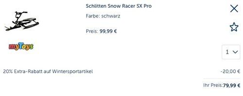 Stiga Schlitten Snow Racer SX Pro - jetzt 17% billiger