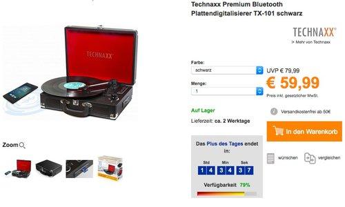 Technaxx Bluetooth Plattendigitalisierer TX-101 - jetzt 14% billiger