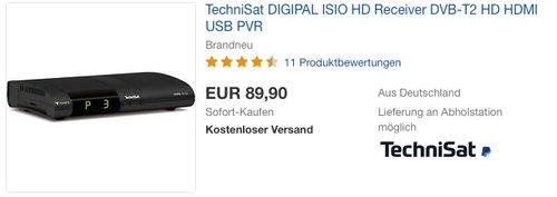 TechniSat DIGIPAL ISIO HD - DVB-T2 HD Receiver - jetzt 22% billiger