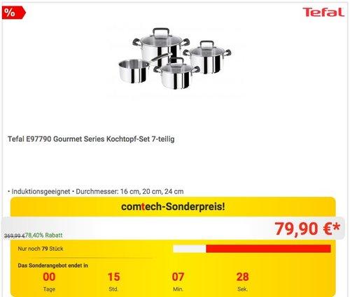 Tefal E97790 Gourmet Series Kochtopf-Set 7-teilig - jetzt 41% billiger