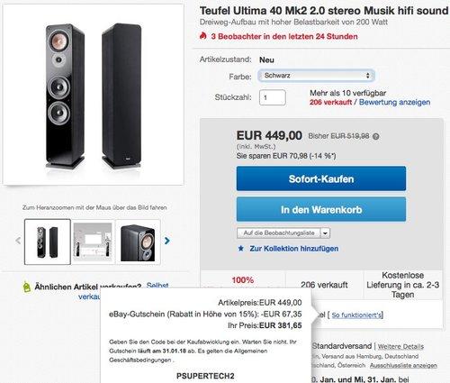 Teufel Ultima 40 Mk2 Lautsprecher - jetzt 20% billiger