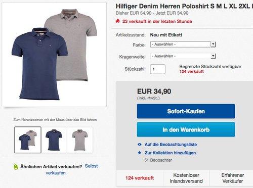 Tommy Hilfiger Denim Original Flag Poloshirt - jetzt 21% billiger