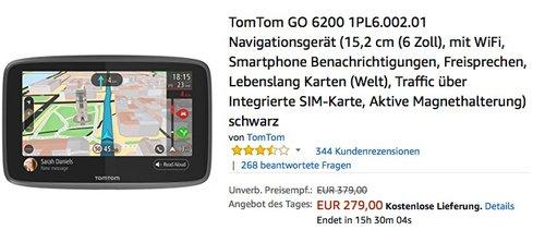 TomTom GO 6200 Navigationsgerät  - jetzt 14% billiger