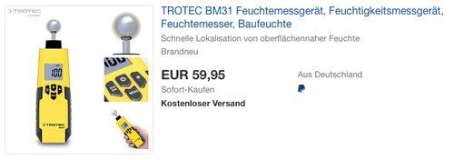TROTEC BM31 Feuchtemessgerät - jetzt 8% billiger