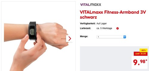VITALmaxx Fitness-Armband - jetzt 25% billiger