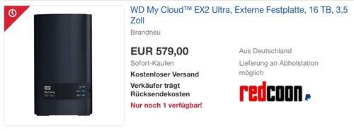 WD My Cloud™ EX2 Ultra 16TB - jetzt 8% billiger