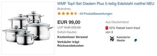 WMF Topf-Set Diadem Plus 5-teilig - jetzt 7% billiger