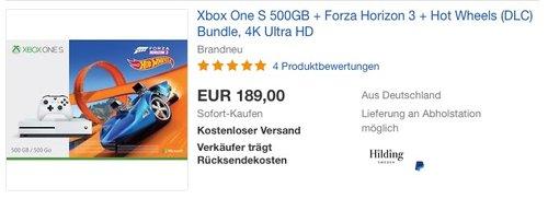 Xbox One S 500GB Konsole - Forza Horizon 3 Hot Wheels Bundle - jetzt 18% billiger