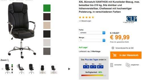 XXL Bürostuhl XANTHOS - jetzt 14% billiger