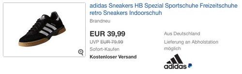 adidas HB Spezial Herren Handballschuhe - jetzt 33% billiger