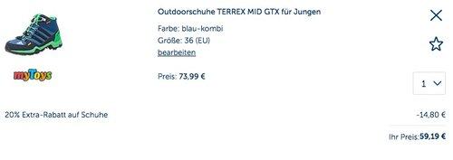 Adidas Outdoorschuhe TERREX MID GTX für Jungen - jetzt 19% billiger