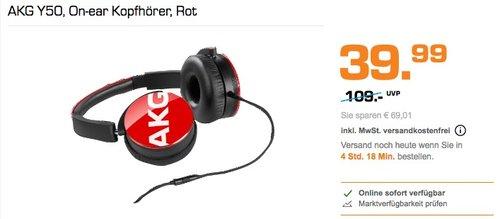 AKG Y50 On-ear Kopfhörer Rot - jetzt 23% billiger