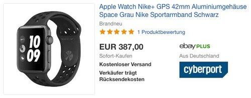 Apple Watch Nike+ GPS 42mm - jetzt 3% billiger